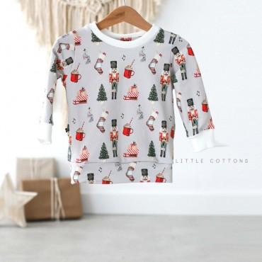Μακρυμάνικη γκρι μπλούζα με καρυοθραύστη - Little Cottons