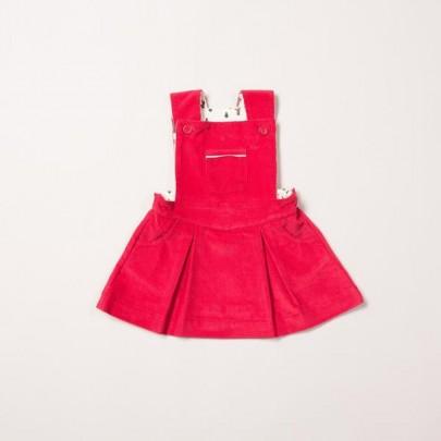 Κόκκινο κοτλέ φορεματάκι αμάνικο - Little Green Radicals