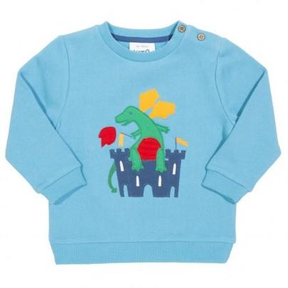 Γαλάζιο φούτερ με δράκο και κάστρο- KITE
