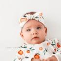 Χειροποίητο λευκό σορτσάκι με πορτοκαλάκια - Little Cottons