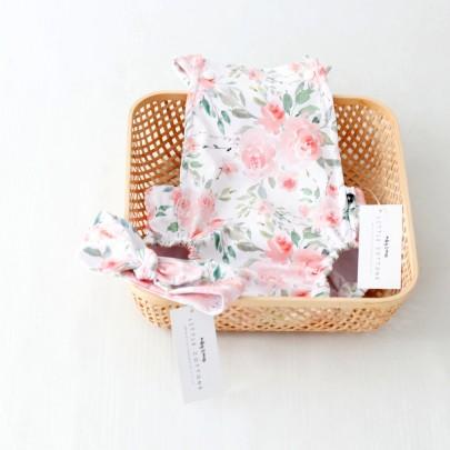 Χειροποίητο φορμάκι λευκό Roses από οργανικό βαμβάκι- Little Cottons