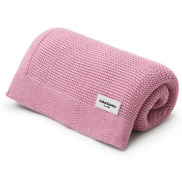 Πλεκτή ροζ κουβερτούλα από bamboo 80 x 100 εκ- Color Stories