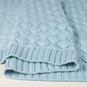 Ανάγλυφη πλεκτή κουβερτούλα σε ανοιχτο γαλάζιο από bamboo  80 x 100 εκ - Color Stories