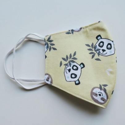 Χειροποίητη παιδική μάσκα με χαριτωμένα panda