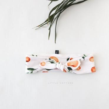 Χειροποίητη κορδέλα για τα μαλλιά με πορτοκαλάκια και φιόγκο- Little Cottons