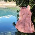 Φορεματάκι ροζ φλοράλ Above The Clouds - Little Green Radicals