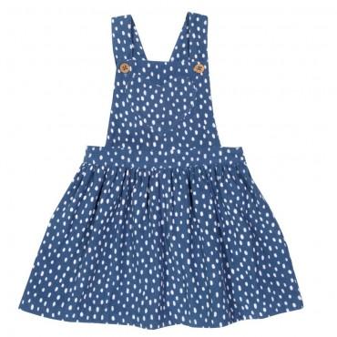 Μπλε κοτλέ φορεματάκι με πιτσιλιές και σχέδιο καρδούλα - Kite