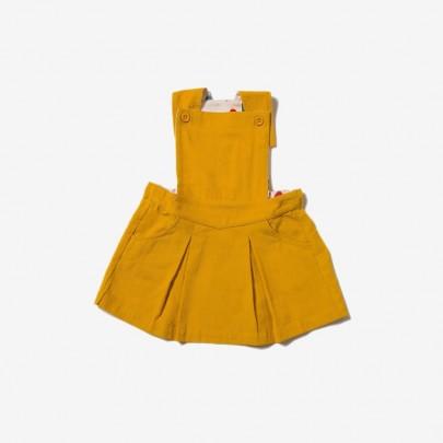 Μουσταρδί κοτλέ φορεματάκι αμάνικο - Little Green Radicals