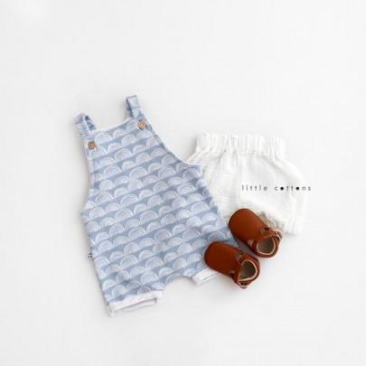 Ολόσωμη αμάνικη μπλε σαλοπέτα με ουράνια τόξα - Little Cottons
