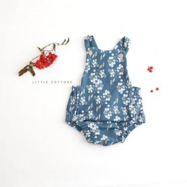 Ολόσωμο φορμάκι μπλε Ditsy Floral - Little Cottons