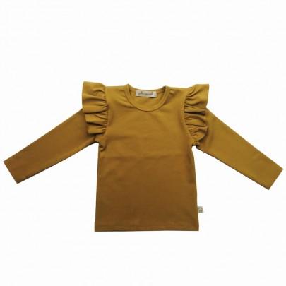 Μουσταρδί μπλουζάκι με βολάν - Julie Dausell