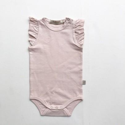 Κοντομάνικο ροζ φορμάκι με βολάν στα μανικάκια - Julie Dausell