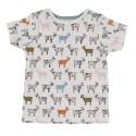 Κοντομάνικο μπλουζάκι με πολύχρωμα κατσικάκια - Pigeon Organics